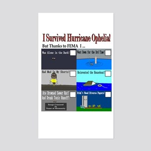 I Survived Hurricane Ophelia Rectangle Sticker