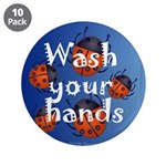 """Infection Control 3.5"""" Button (10 pack)"""