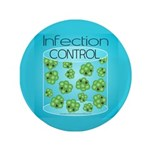 """Infection Control 3.5"""" Button (100 pack)"""