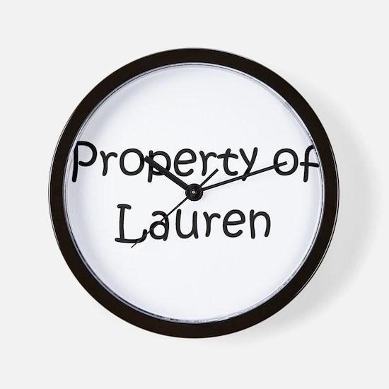 Cute Lauren Wall Clock