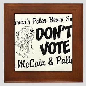 Polar Bears Say No Framed Tile
