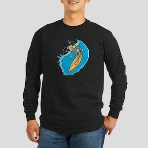 Surfer Girl Long Sleeve Dark T-Shirt