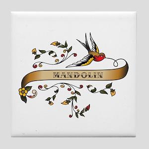 Mandolin Scroll Tile Coaster