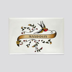 Mandolin Scroll Rectangle Magnet
