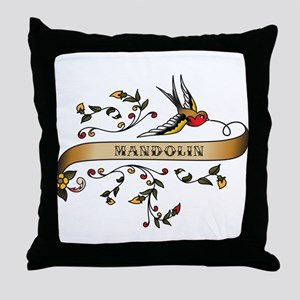 Mandolin Scroll Throw Pillow