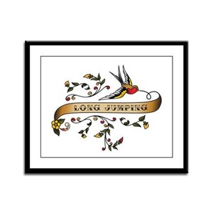 Long Jumping Scroll Framed Panel Print