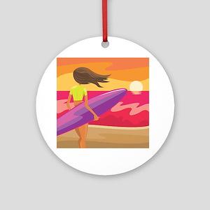 Surf Scape Ornament (Round)