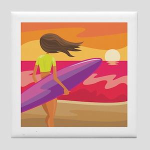Surf Scape Tile Coaster