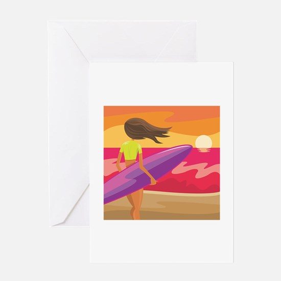 Surf Scape Greeting Card