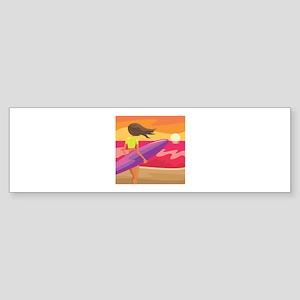 Surf Scape Bumper Sticker