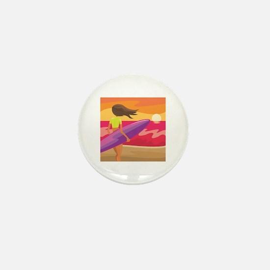 Surf Scape Mini Button
