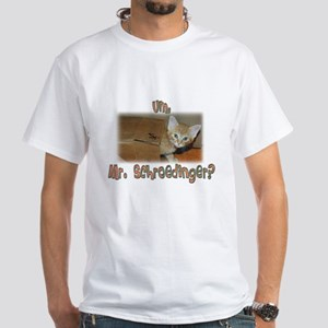 Schroedinger's Cat Alive White T-Shirt