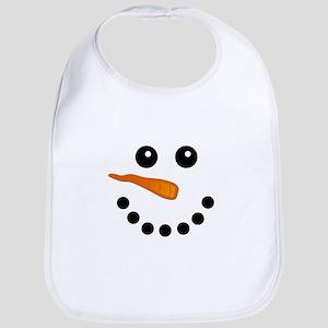 Snowman Face Baby Bib