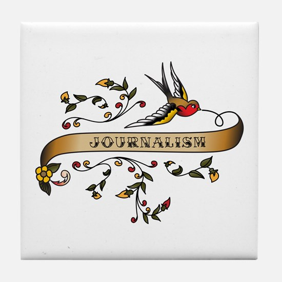 Journalism Scroll Tile Coaster