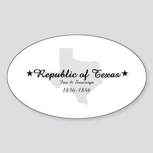 Republic Of Texas Oval Sticker