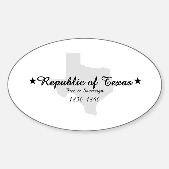 Republic Of Texas Oval Decal