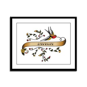 Javelin Scroll Framed Panel Print