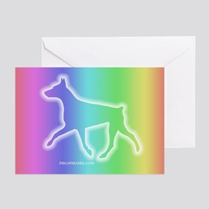 Doberman Rainbow Sympathy Cards