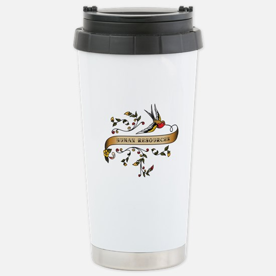 Human Resources Scroll Stainless Steel Travel Mug