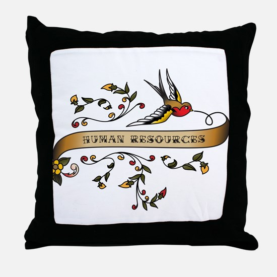 Human Resources Scroll Throw Pillow