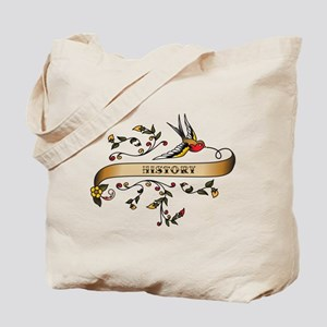 History Scroll Tote Bag