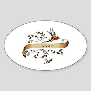 Harp Scroll Oval Sticker