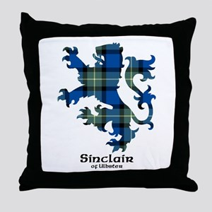 Lion-SinclairUlbster Throw Pillow