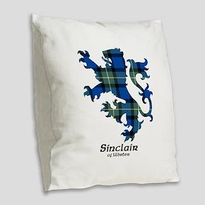 Lion-SinclairUlbster Burlap Throw Pillow