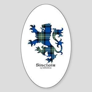 Lion-SinclairUlbster Sticker (Oval)