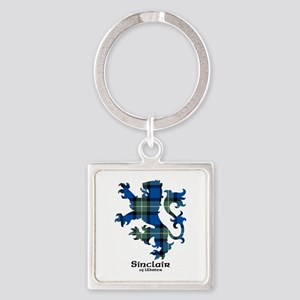 Lion-SinclairUlbster Square Keychain