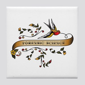 Forensic Science Scroll Tile Coaster