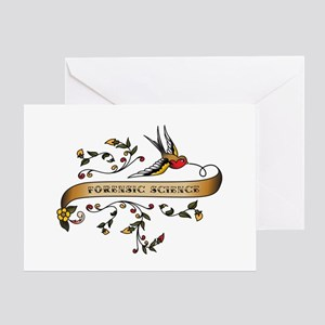 Forensic Science Scroll Greeting Card