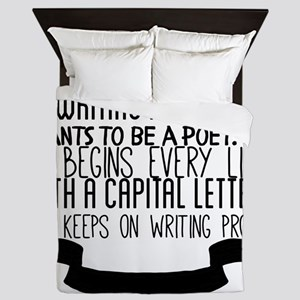 A prose writer gets tired of writing p Queen Duvet