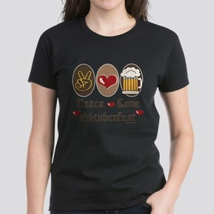 Peace Love Oktoberfest Women's Dark T-Shirt