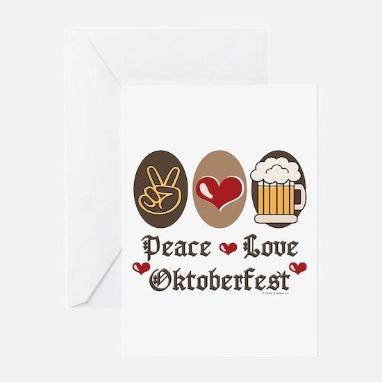 Peace Love Oktoberfest Greeting Card