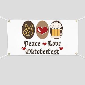 Peace Love Oktoberfest Banner