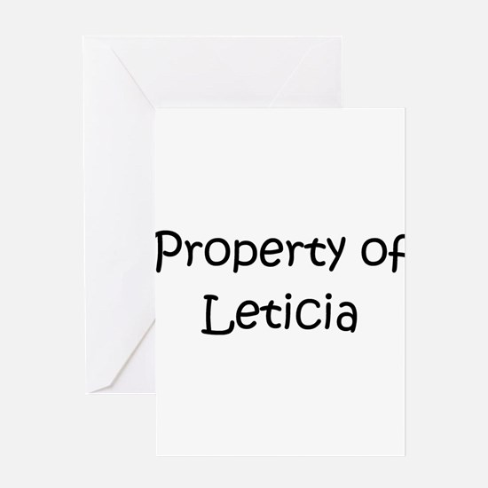 Cute Leticia Greeting Card
