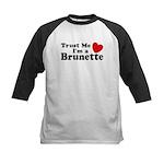 Trust Me I'm a Brunette Kids Baseball Jersey