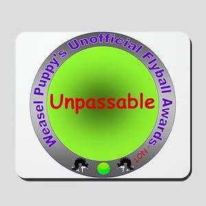 Unpassable Flyball Spoof Award Mousepad