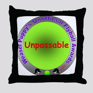 Unpassable Flyball Spoof Award Throw Pillow