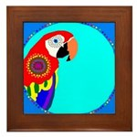 Parrot Framed Tile