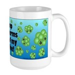 Keep the Germs Out of My Coffee Large Mug