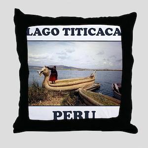 Lago Titicaca Peru Throw Pillow