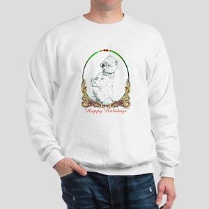 Westie Sit Happy Holidays Sweatshirt
