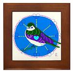 Violet-green Swallow Framed Tile