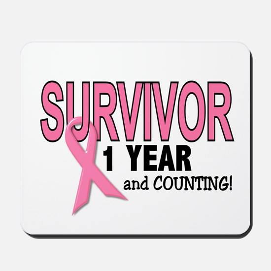Breast Cancer Survivor 1 Year Mousepad