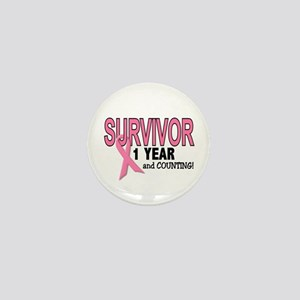 Breast Cancer Survivor 1 Year Mini Button