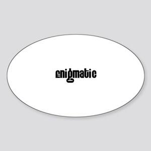 Enigmatic Oval Sticker