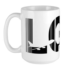 Long Beach Airport Code California LGB Large Mug