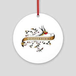 CounterStrike Scroll Ornament (Round)